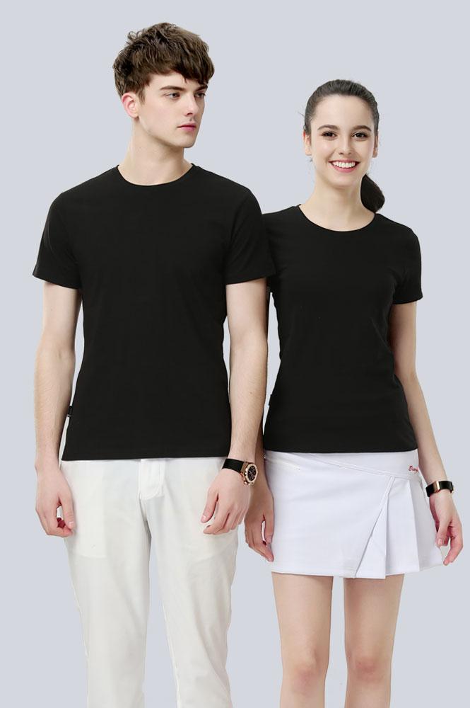 黑色圆领T恤衫订制