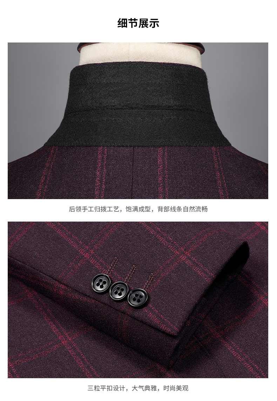 西装外套的细节图