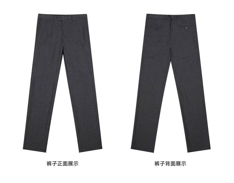 西裤正反面款式图