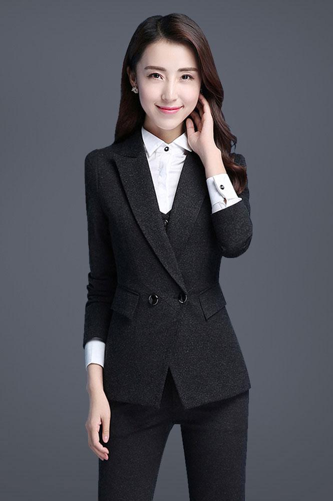 女款时尚修身职业装定制