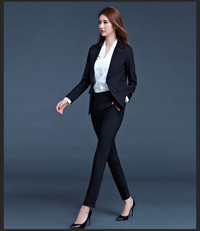 女士职业西装款式图