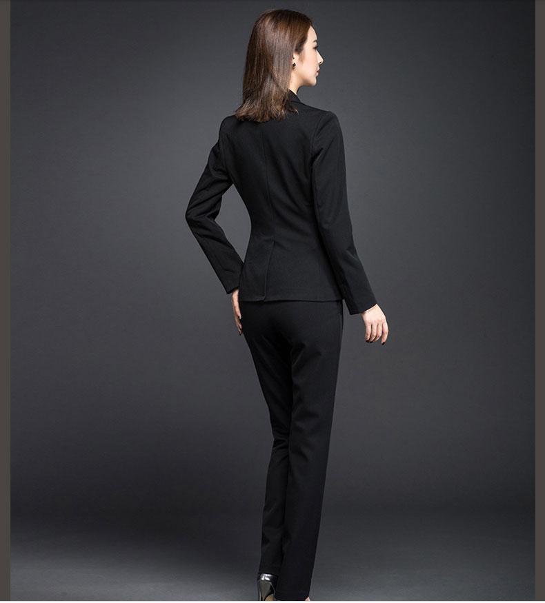 商务女西服款式图