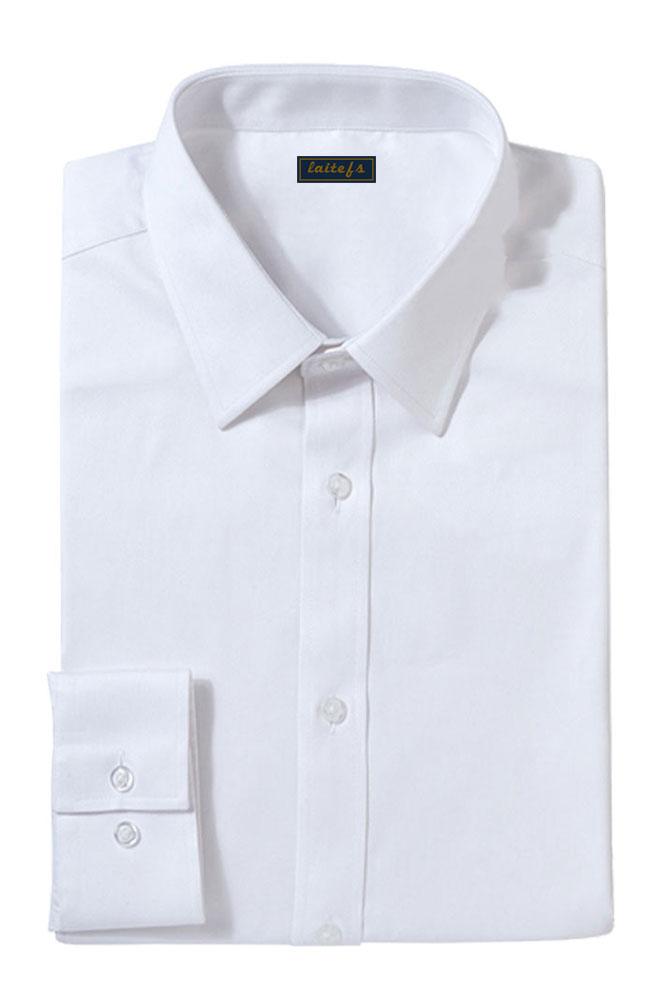 斜纹商务修身长袖衬衫定制