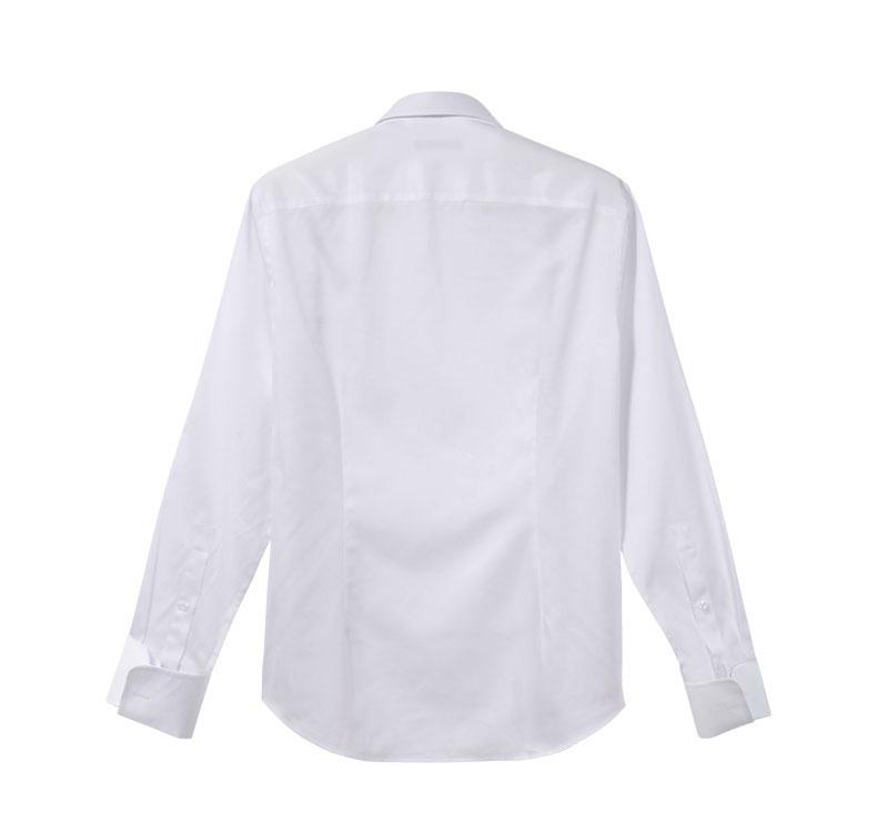 白色衬衫背面款式图