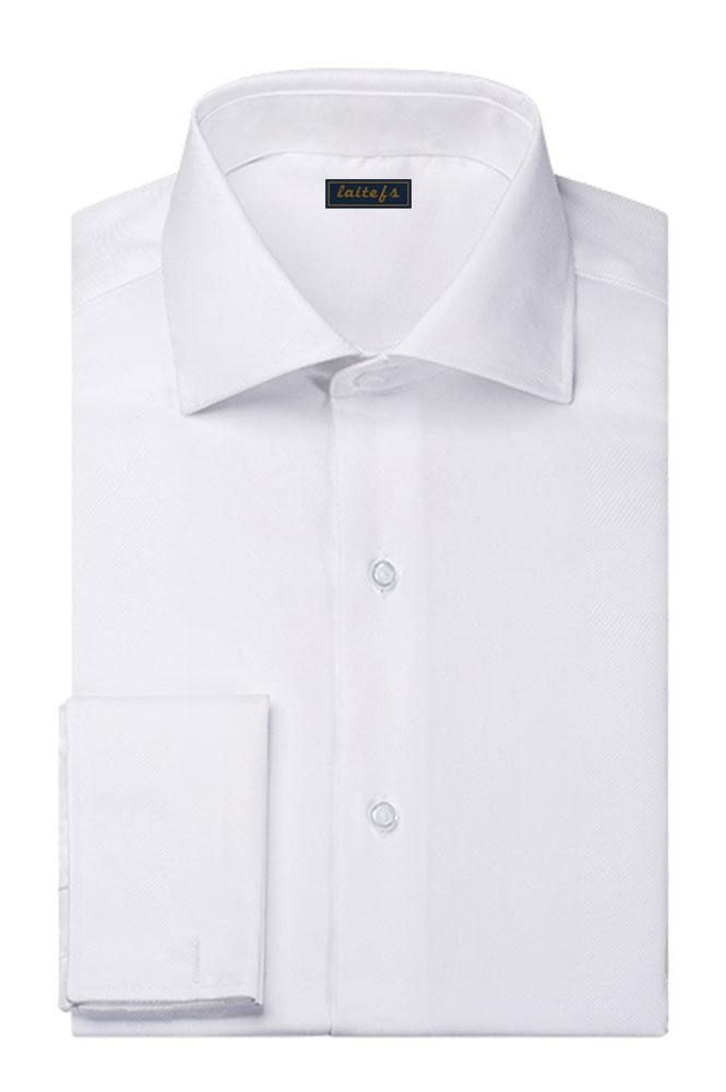 商务白色长袖衬衫定制