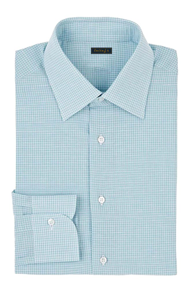 男式纯棉小方格衬衫定制