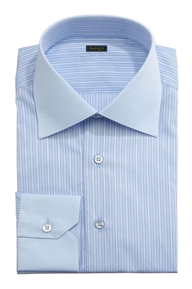 男款蓝色休闲衬衫定制