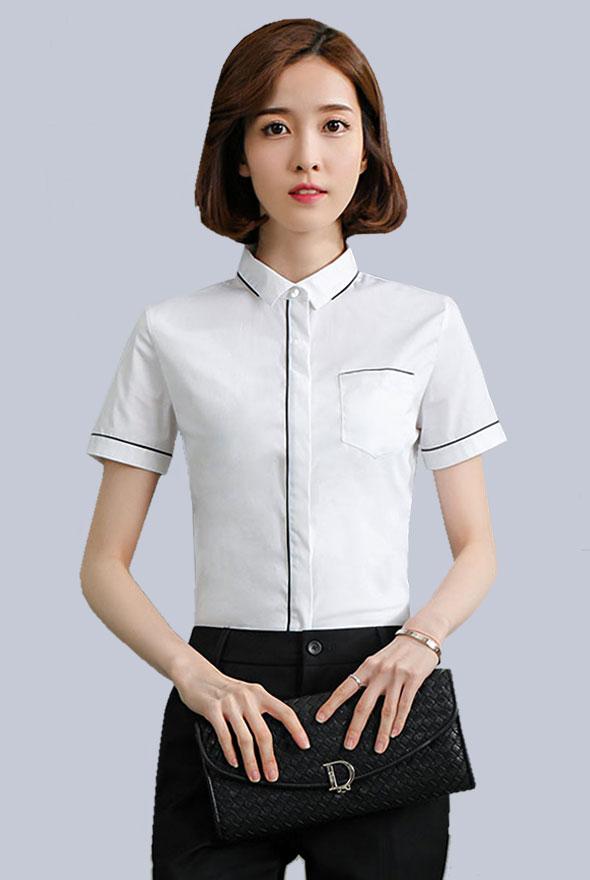 女装夏季短袖衬衫定制