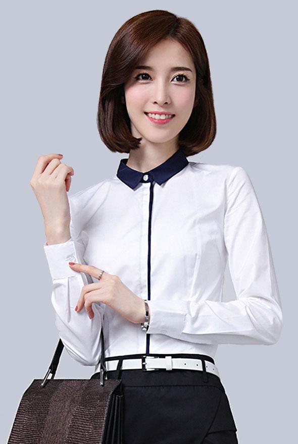 韩版新款修身衬衫定制