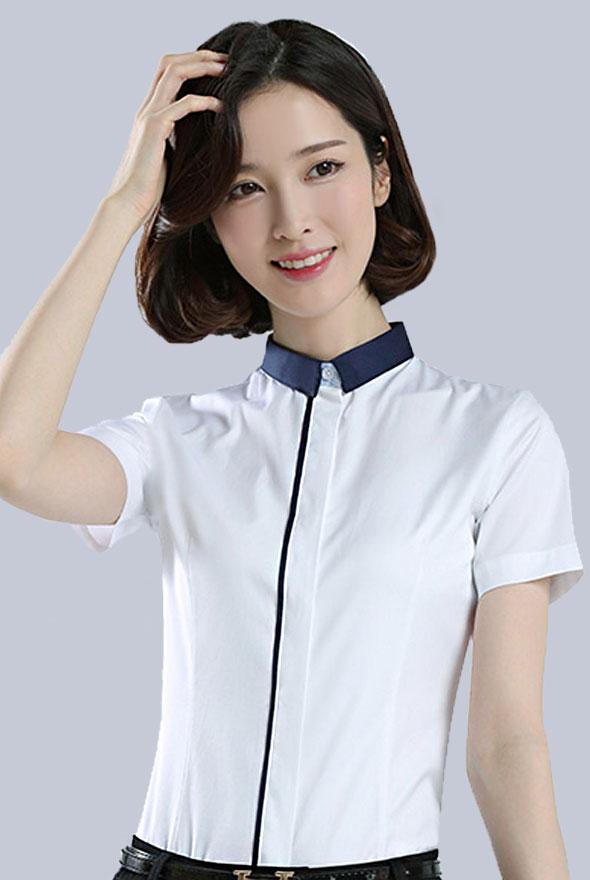夏装女短袖衬衫定制
