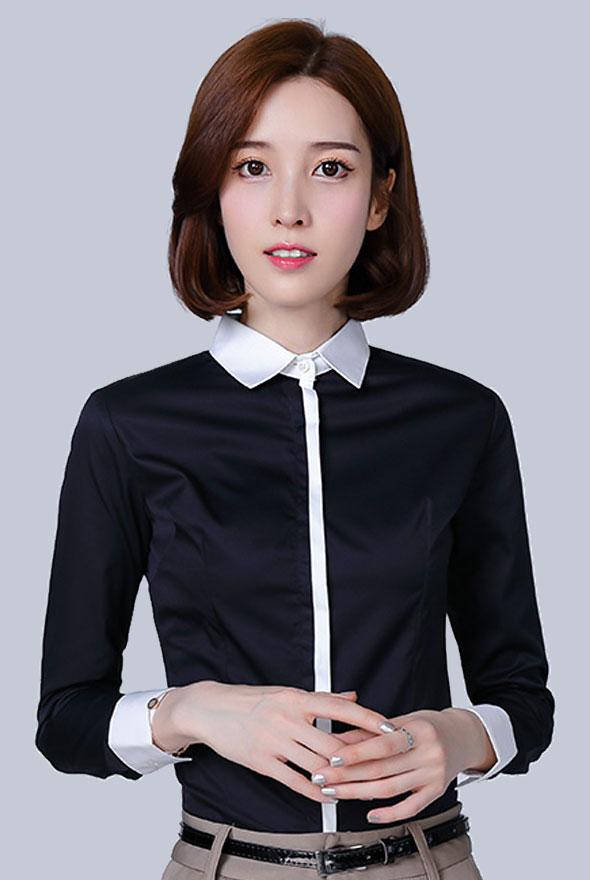 女士修身职业衬衫定制