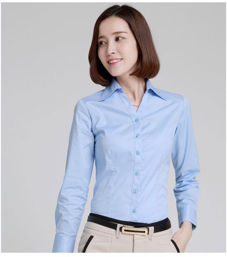 女士V领衬衫款式图