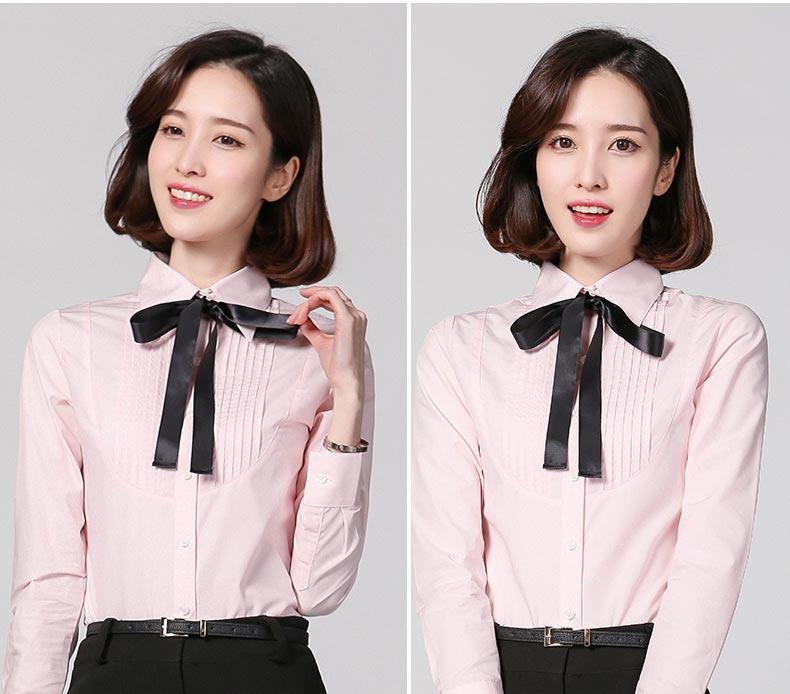 女士粉色衬衫款式图
