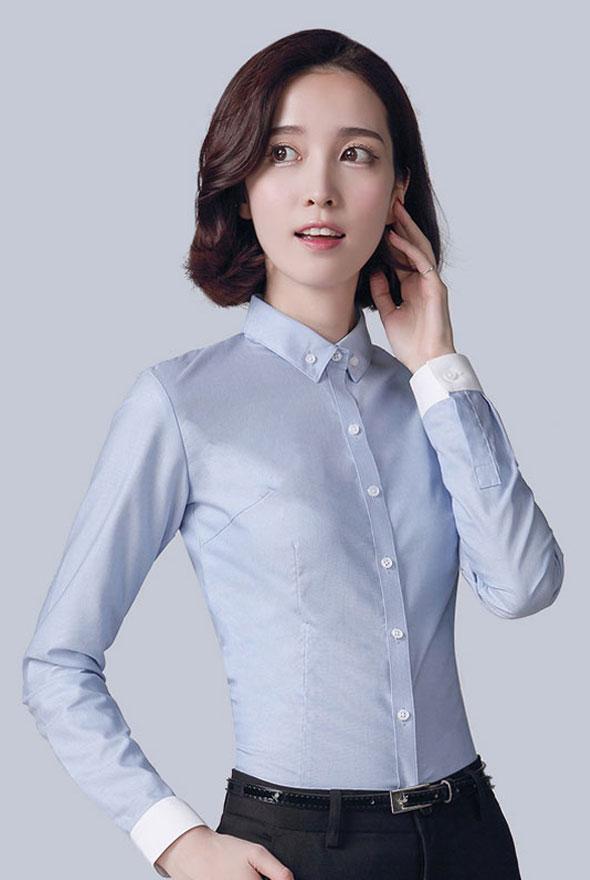 女款长袖修身衬衣定制