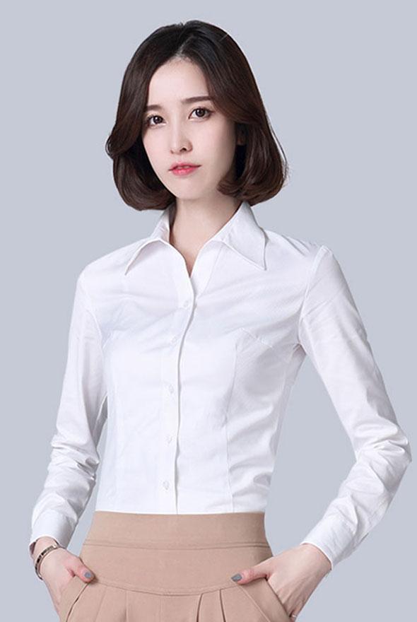 女士白色衬衫定制