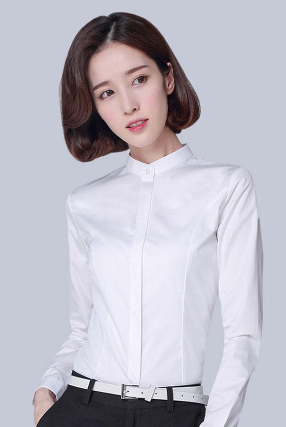女士纯棉修身衬衣定制