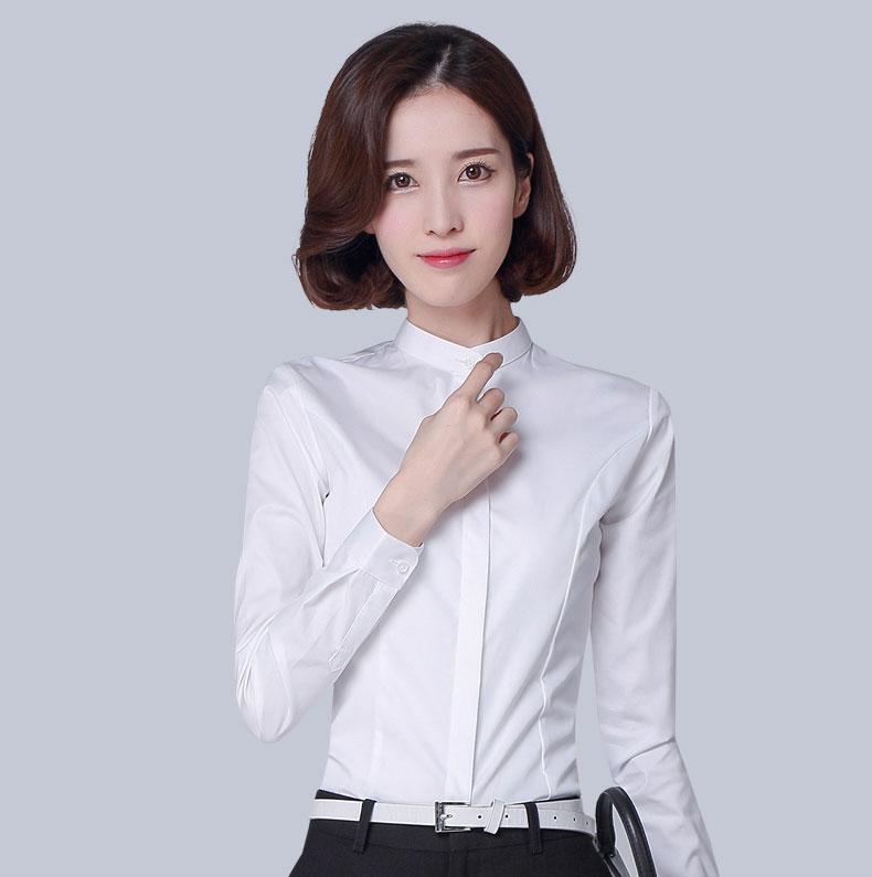 女士纯棉衬衣款式图