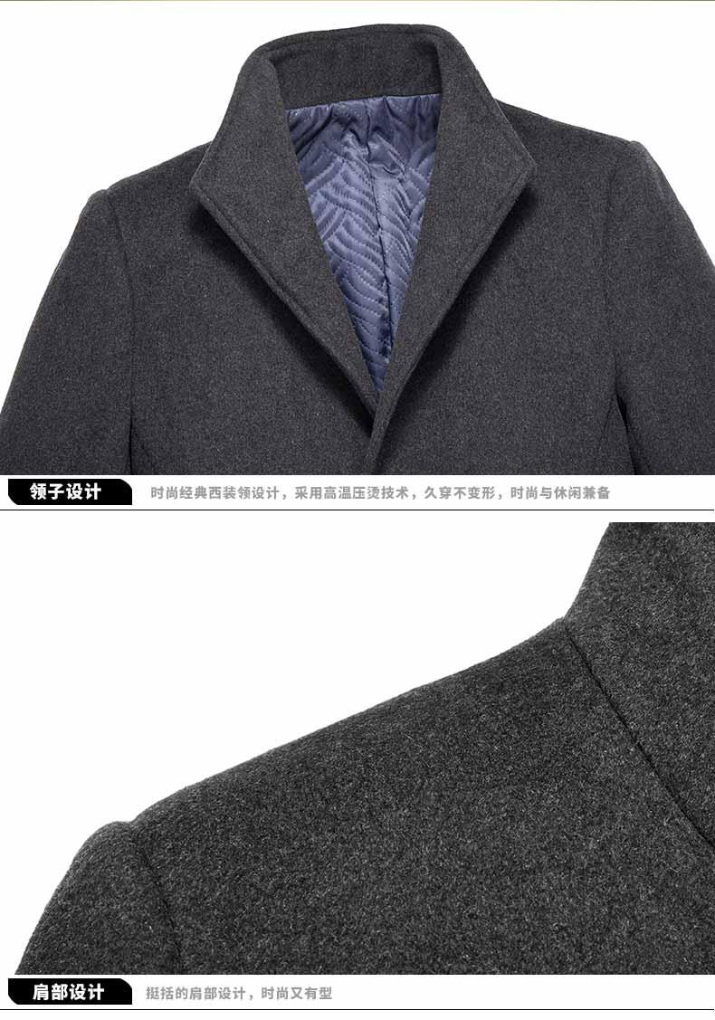 男青年大衣款式细节图