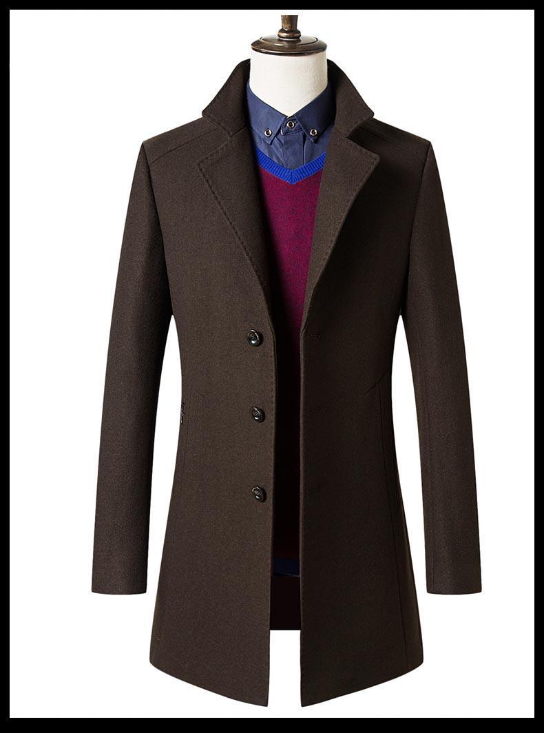 男士毛呢大衣款式图