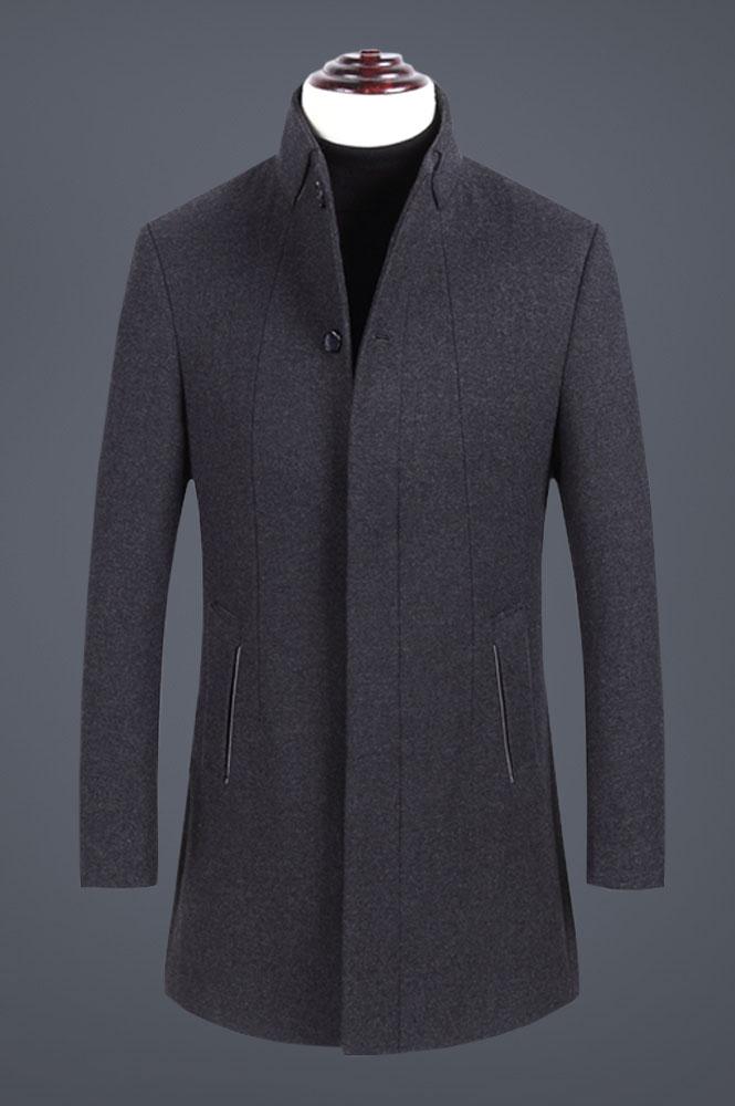 男士羊毛修身呢子外套定做