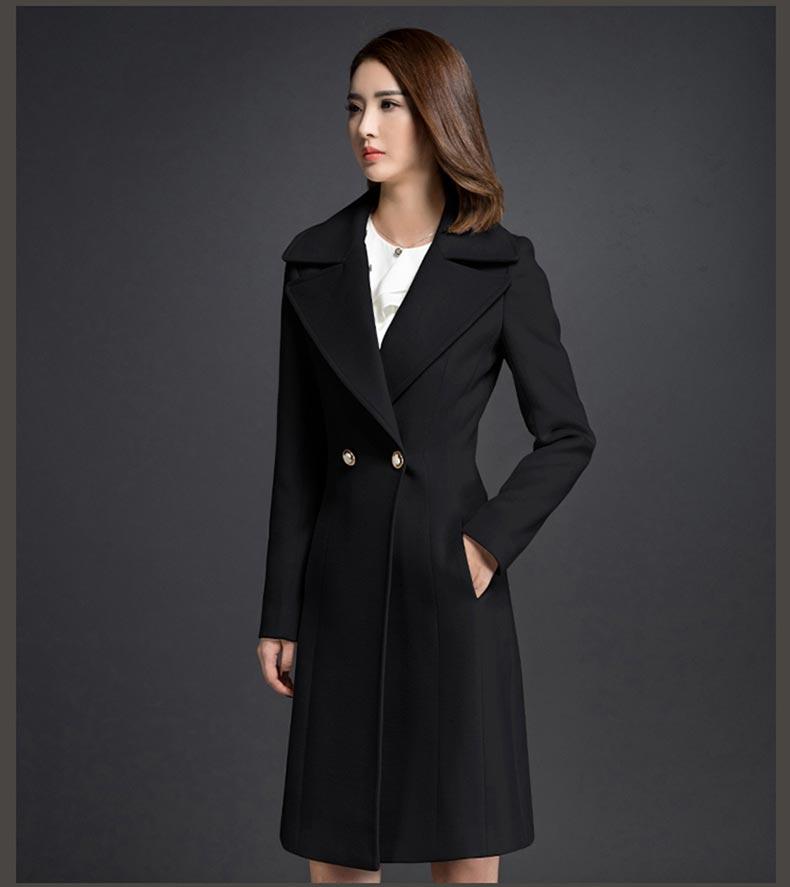 女大衣呢子大衣款式图