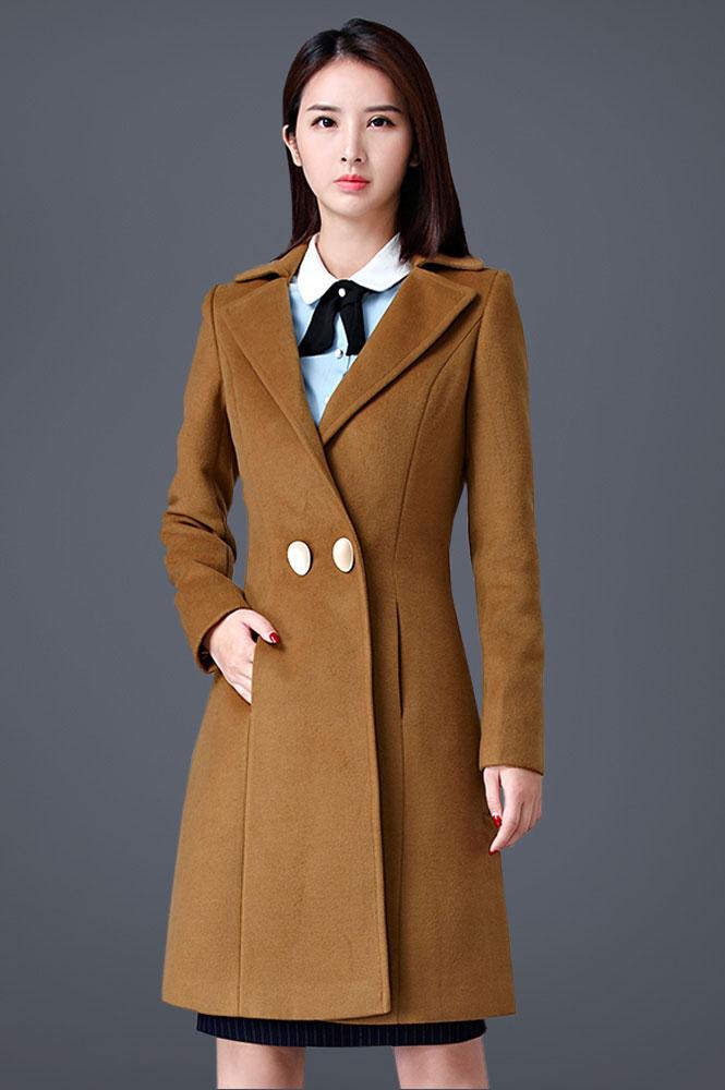 时尚商务修身呢子大衣定制