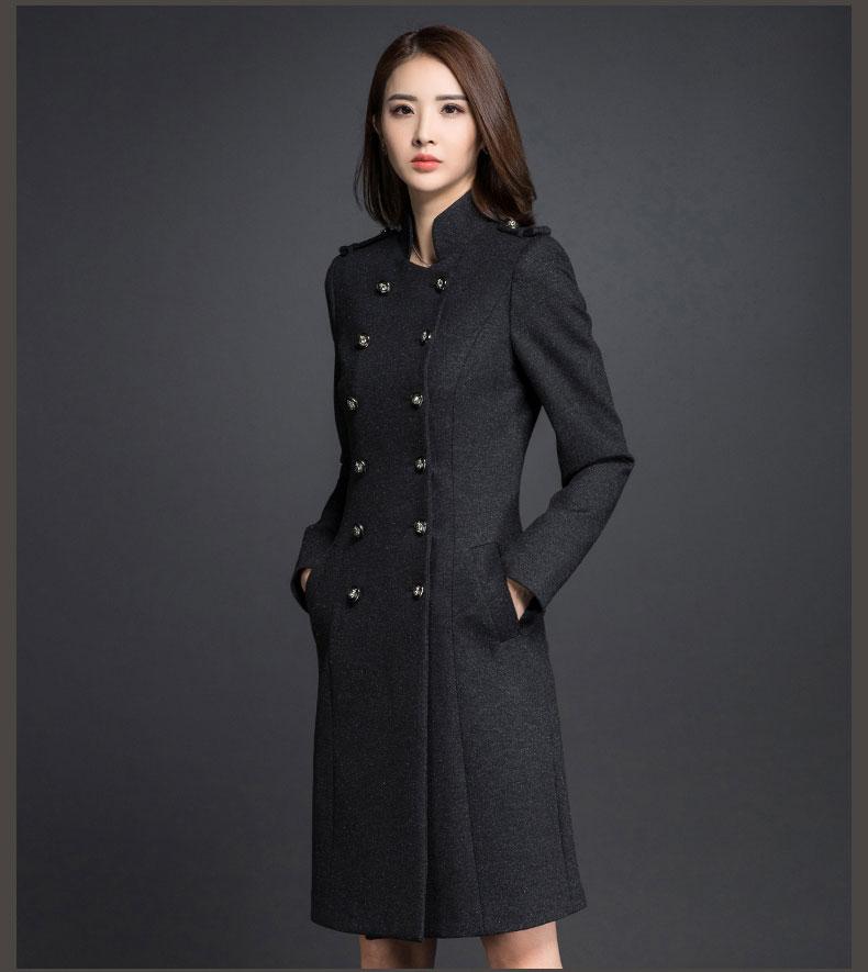 立领女大衣款式图