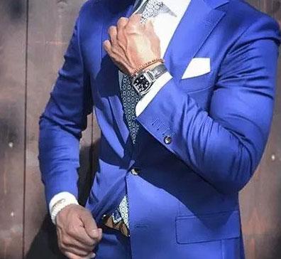 粉蓝色西服款式