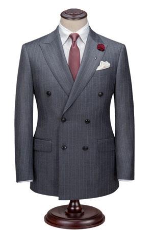 双排扣西服款式图