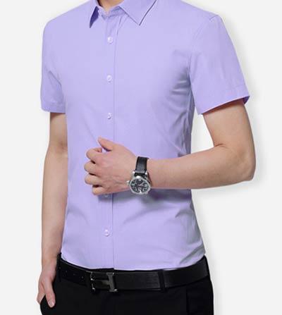 紫色衬衫款式参考图