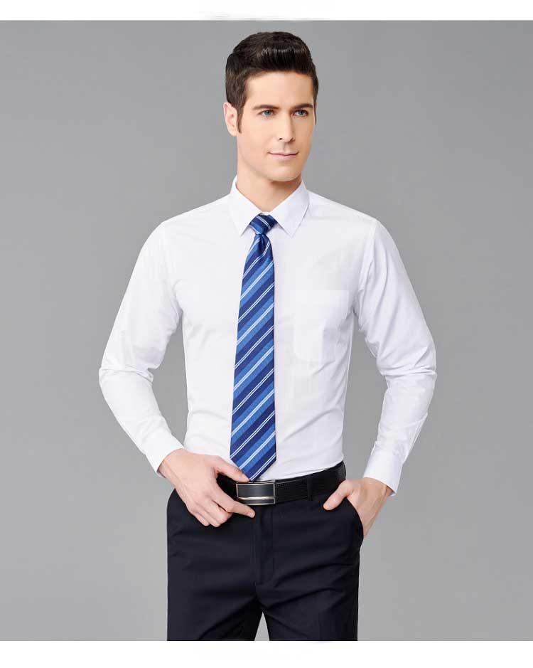 男士白色衬衫款式图