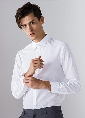男士白衬衫款式图