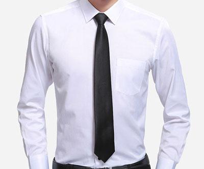 白衬衫搭配领带款式图