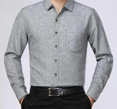 浅灰衬衫面料