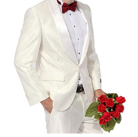 白色结婚西服
