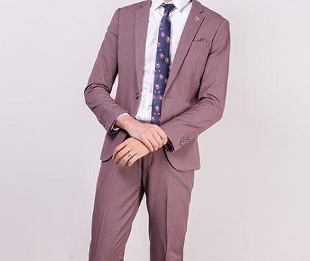 紫粉色西服