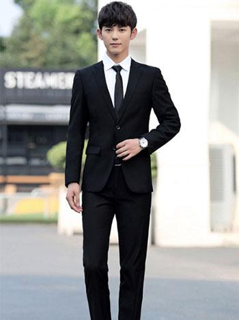 男士黑色西服