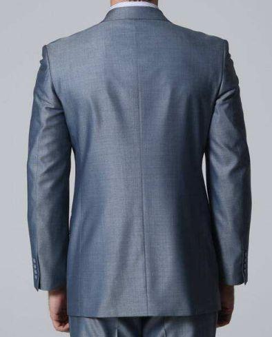后面不开叉的西服款式