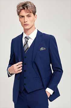 海蓝色西服