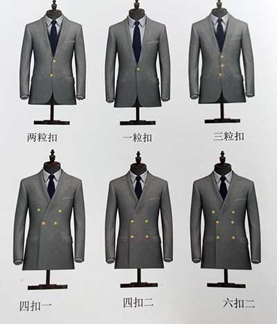 西装的款型和纽扣