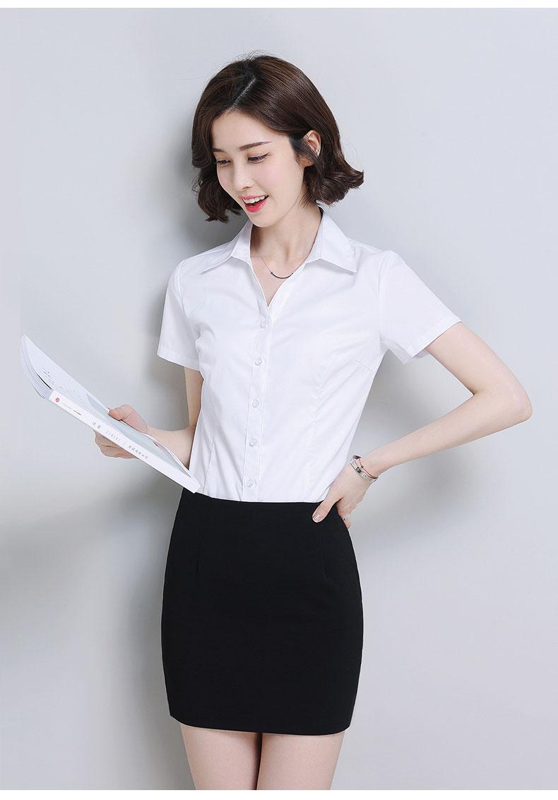 女款纯棉衬衫款式图