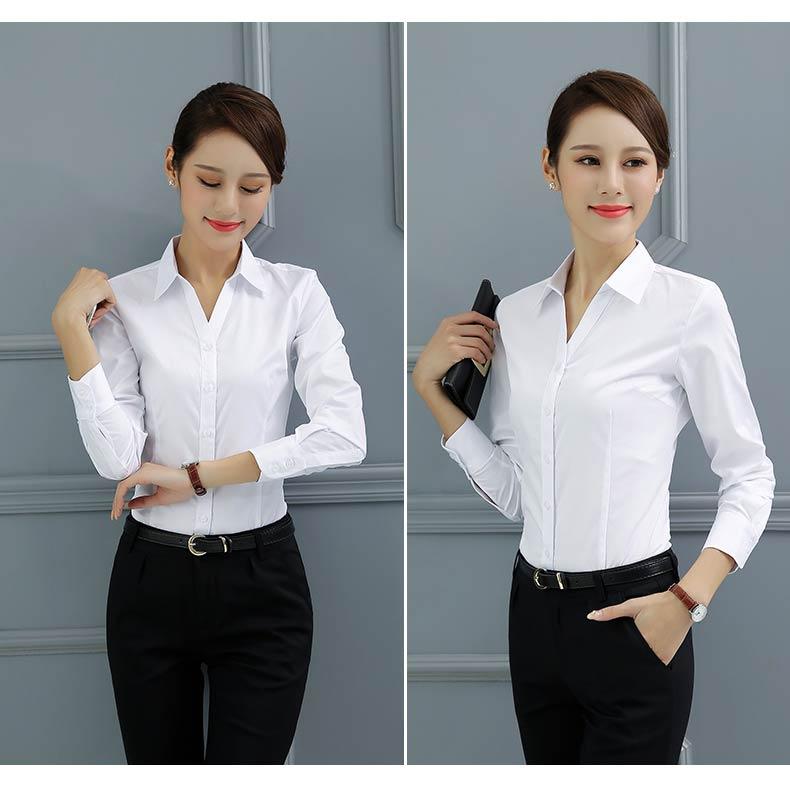 女款职业白衬衫款式图