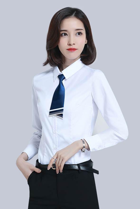 女士职业白衬衫定制