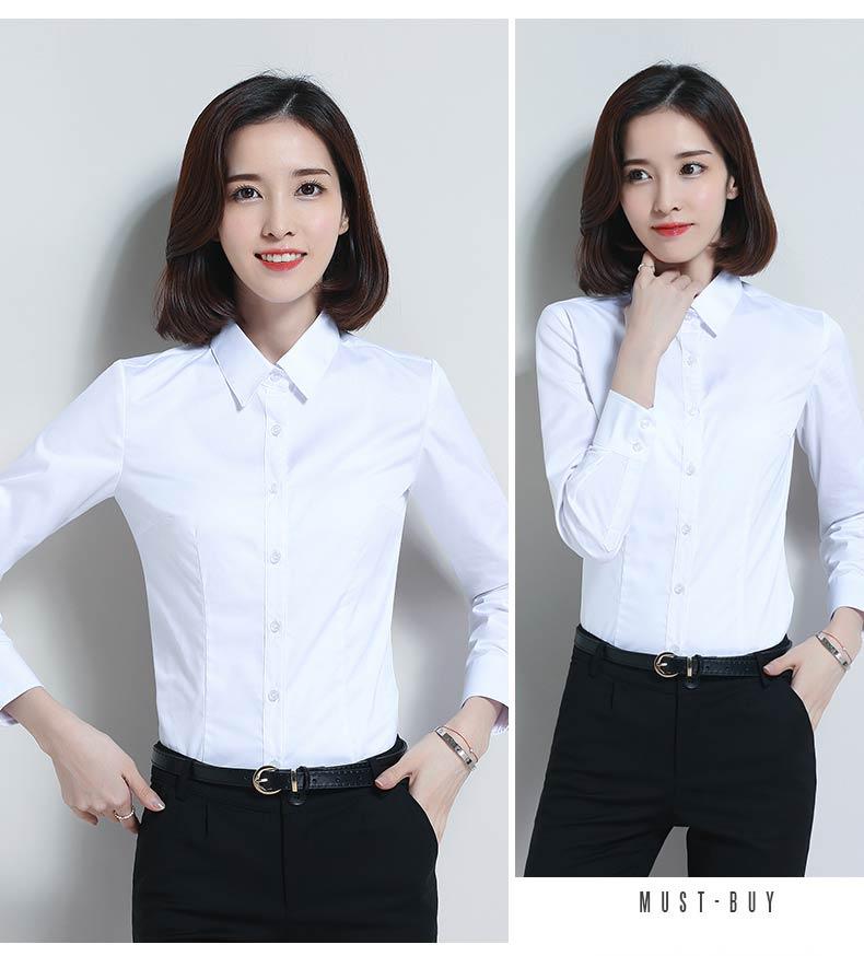 女款白色衬衫款式图