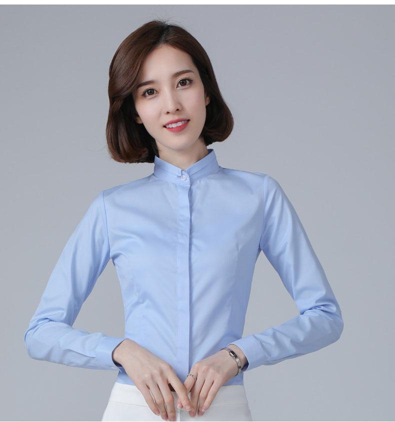 女士长袖衬衫定制款式图