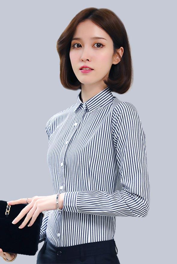 女士条纹衬衫定制