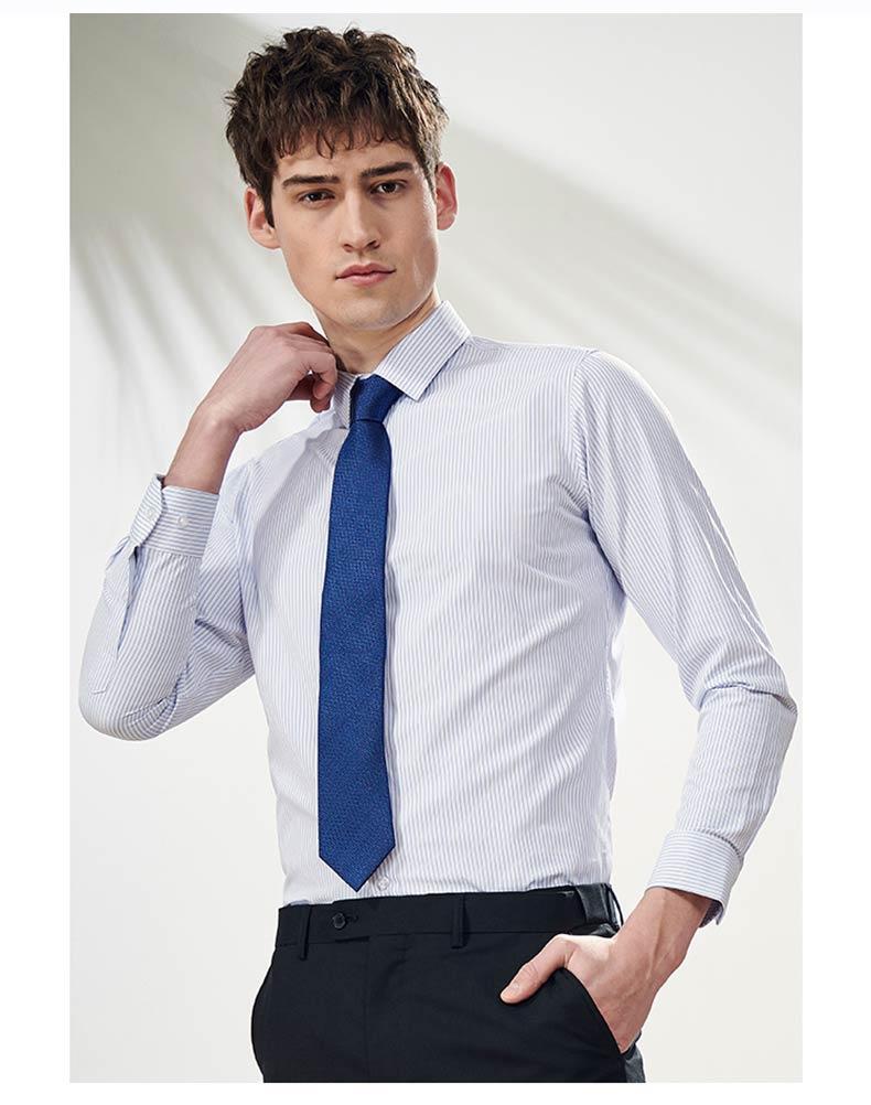 男士条纹衬衫定制款式图