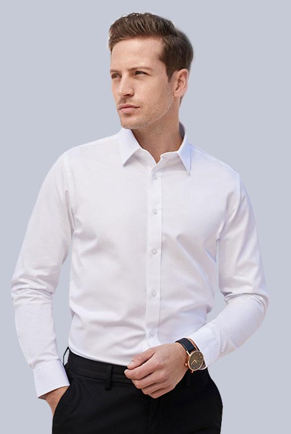 男士白色衬衫定制
