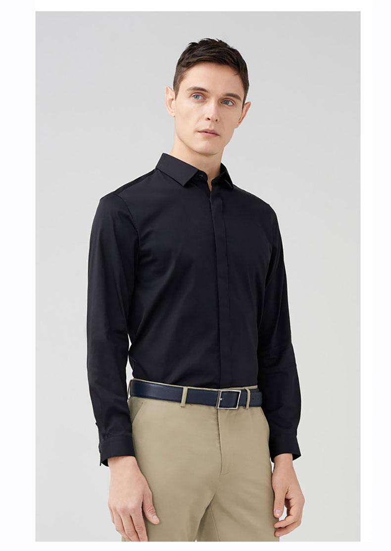 男士定制衬衫款式图
