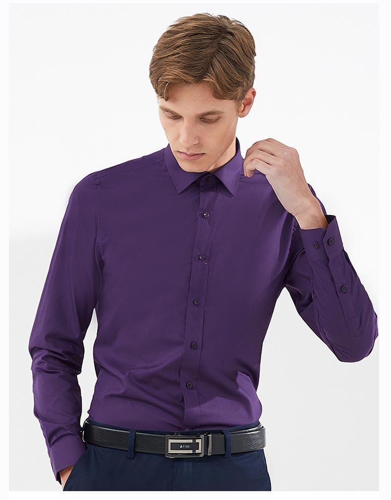 男职业衬衫定做款式图